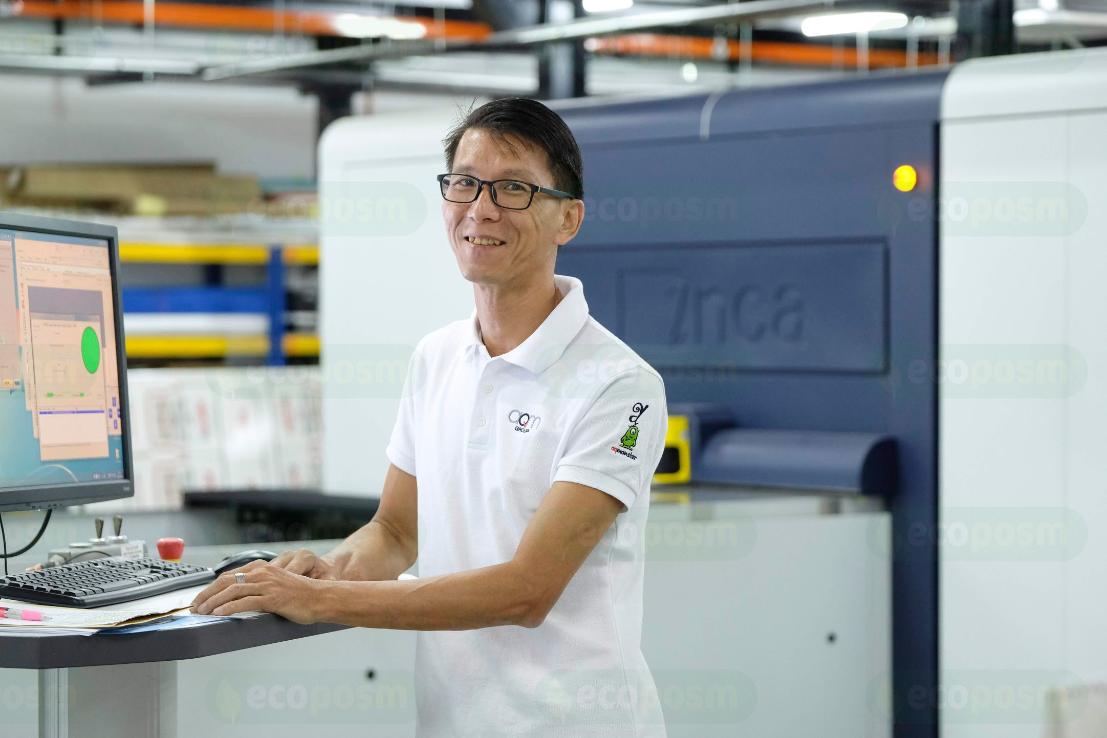 Equipped With The fastest-ever' wide-format Inca Onset Printer